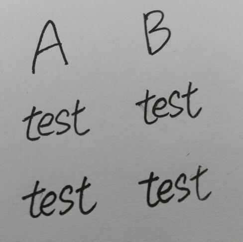 forensic handwriting analysis test